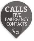 mobile medical alarm for seniors that calls five contacts