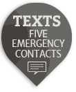 live life 3G mobile personal alert contacts 5 people