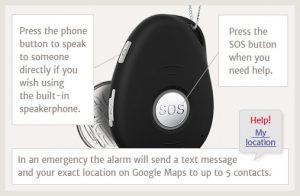 mobile medical alert pendant GPS tracking functions
