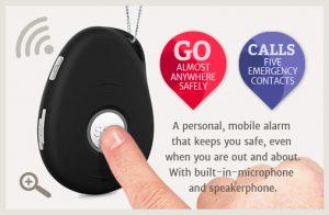 3G mobile medical alert pendant for seniors with GPS & fall detection
