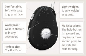 new 3G mobile personal alrm system with pendant is waterproof