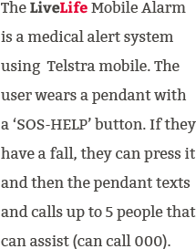 how mobile medical alert system fall alarm works