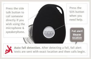 mobile medical alarm personal emergency slider