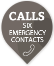 mobile medical alarm for seniors that calls six contacts